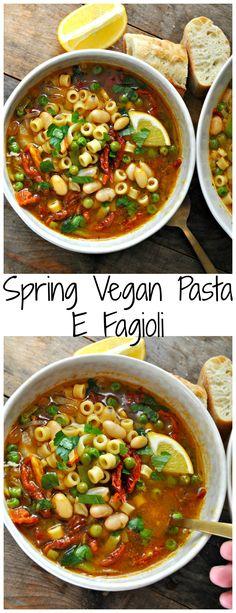 Spring Vegan Pasta E Fagioli