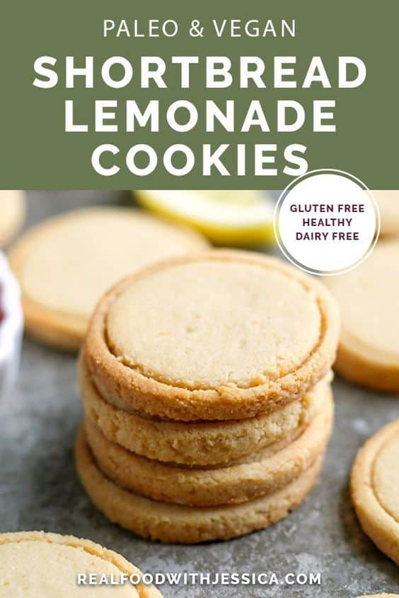Paleo Vegan Shortbread Lemonades