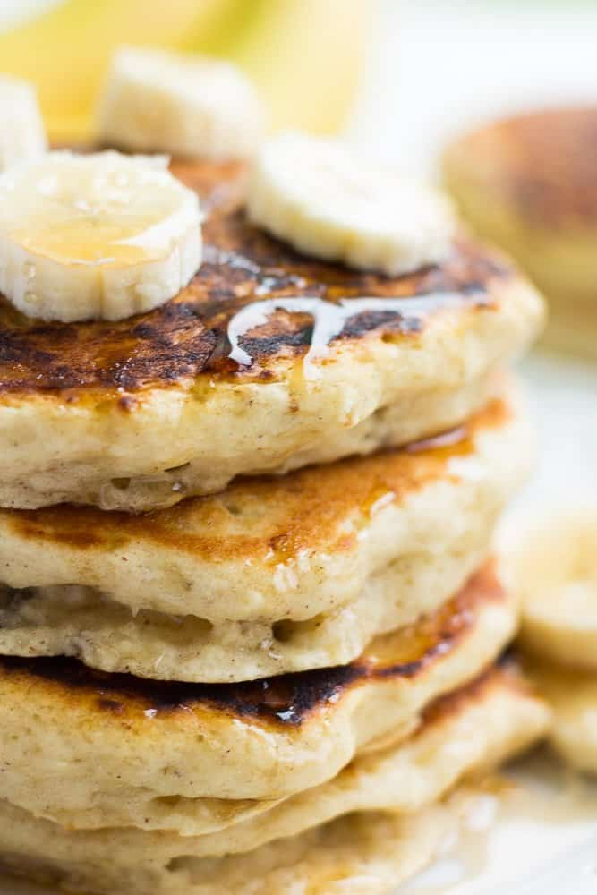 Fluffy Vegan Banana Pancakes