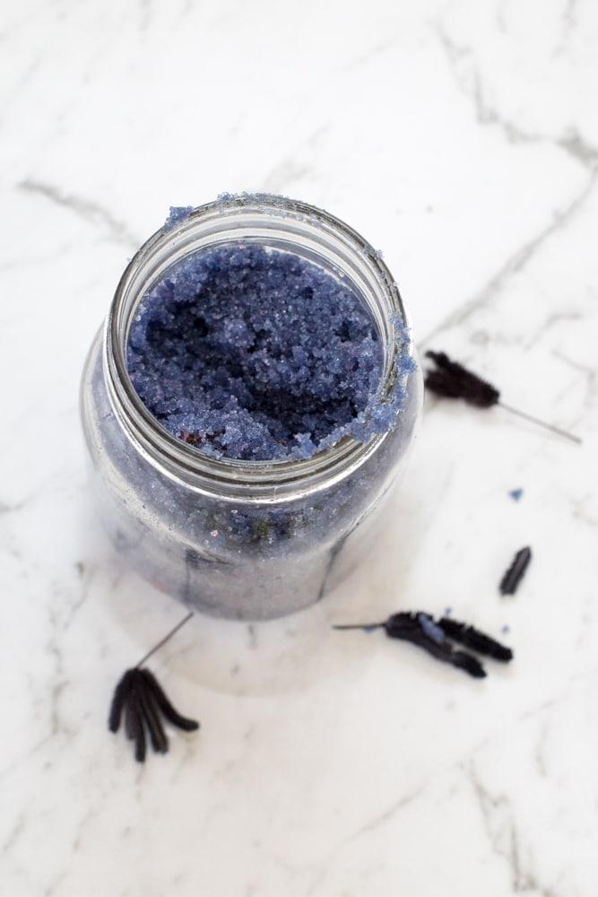 Relaxing Homemade Lavender Sugar Scrub