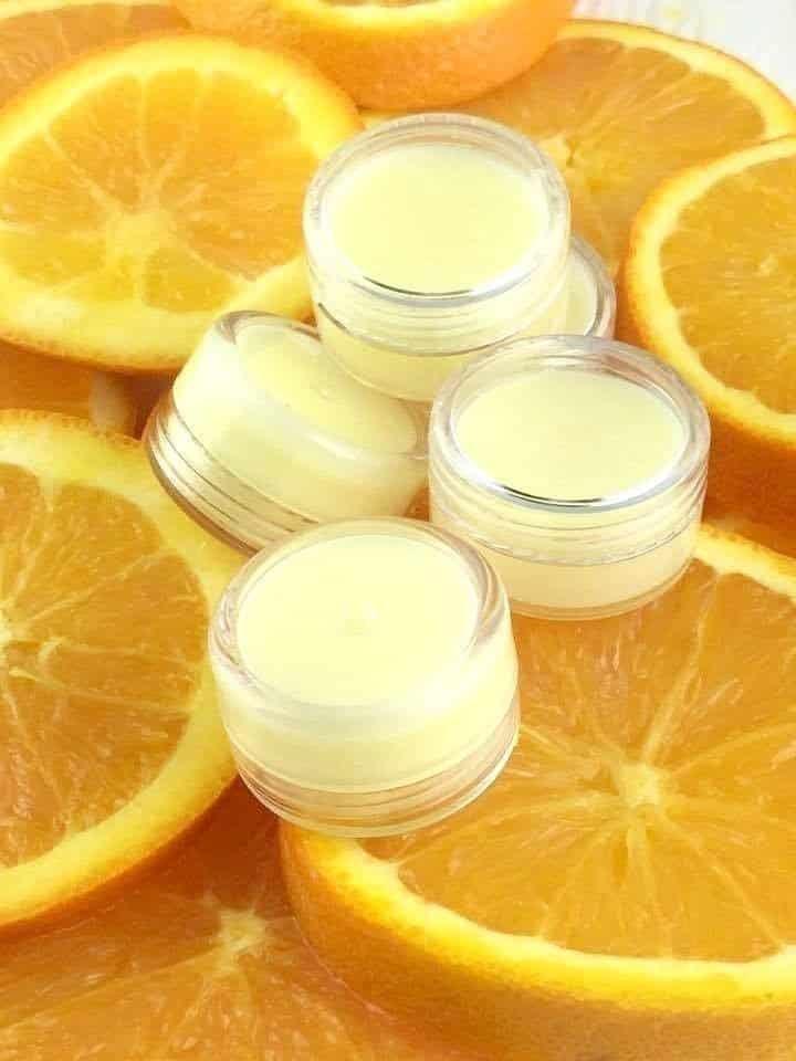 DIY Orange Creamsicle Lip Balm