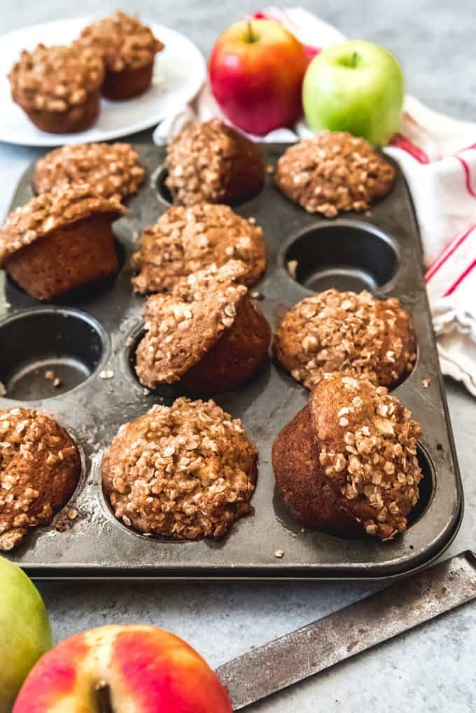 Easy Apple Oatmeal Muffins