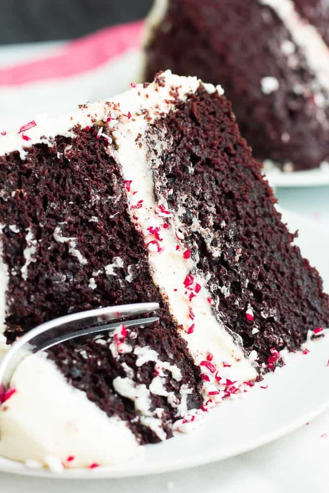 Vegan Peppermint Mocha Cake