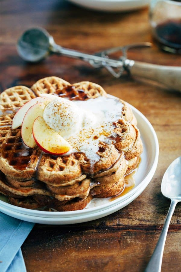 Spiced Apple Pie Waffles