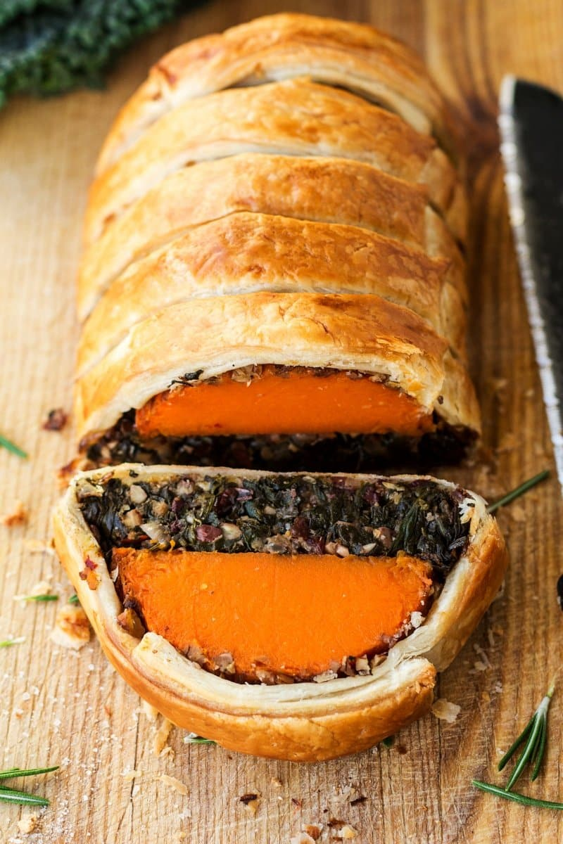 Vegan squash Wellington
